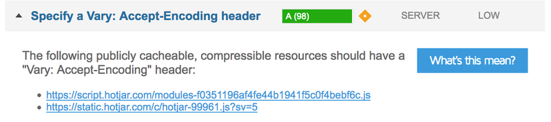 Specify a Vary: Accept-Encoding header