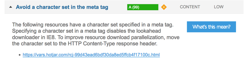 Avoid a character set in the meta tag
