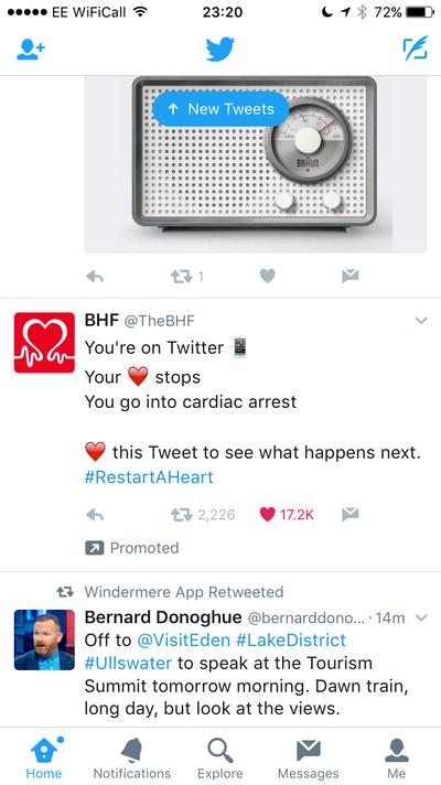 BHF Twitter Campaign