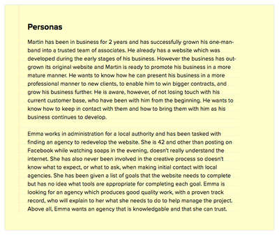 Simple Text Personas