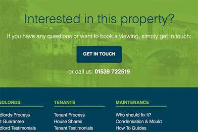 Mint Homes Footer Contact
