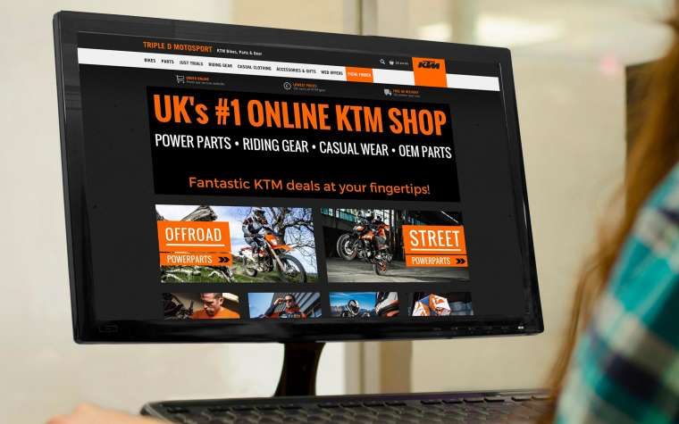 Triple D Motosport home page on PC